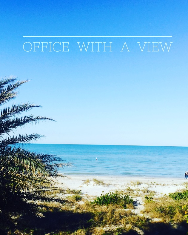 Office with a view on the beach image